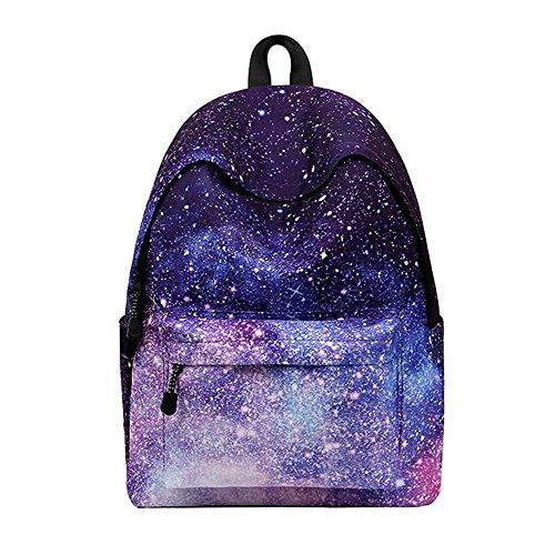 Sky-shop Casual Geometric Unisex Galaxy Pattern School Bag Backpack Rucksack Travel Laptop Book Bag Satchel Hiking Bag(Galaxy)