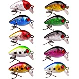 LPATTERN 10pcs/Lot Minnow Fishing Lure Crank Bait Hooks Bass Crankbait Tackle 2.8cm/1.7g Smooth Floating Bass Popper Lures Review