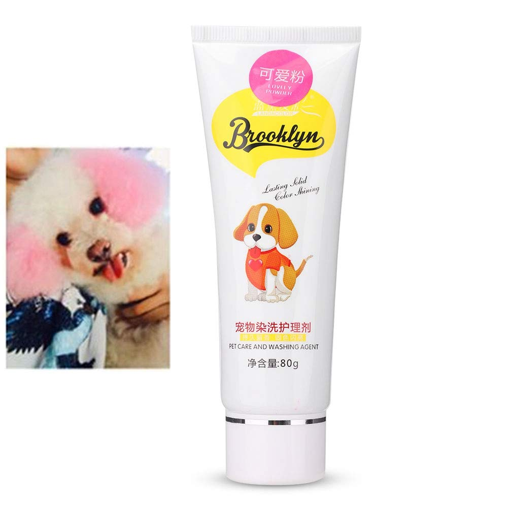 Dog Hair Dye, Permanent Non-Toxic (Pink), Hypoallergenic, for Creative Grooming. Vivid Color by zjchao