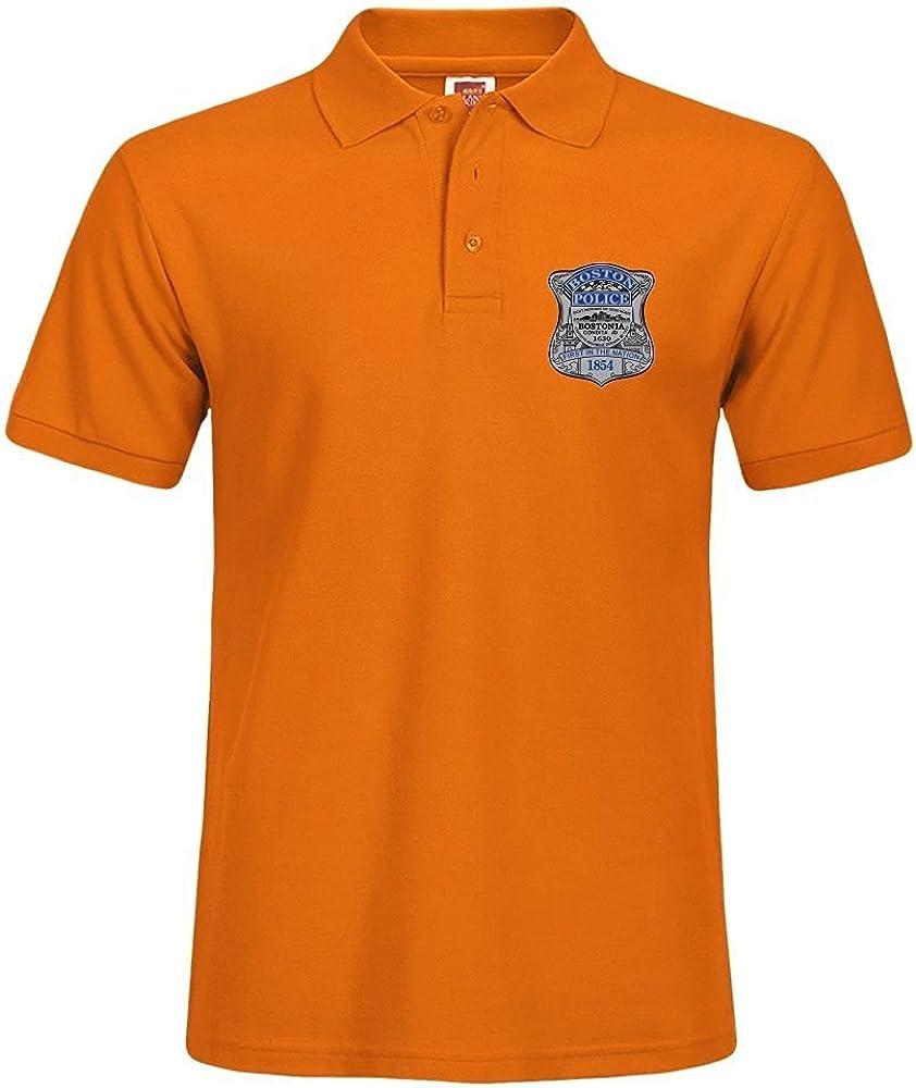 Carostone Boston Police Badge Custom Polo T-shirt For Men POLO XXX ...