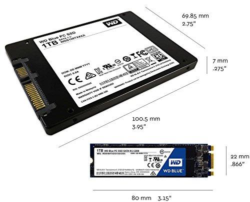 WD Blue SATA 6Gb/s 2.5 Inch 500GB Internal SSD Solid State Drive (WDS500G1B0A) by Western Digital (Image #3)