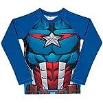 Camiseta Praia Manga Longa Avengers, TipTop, Azul, 2