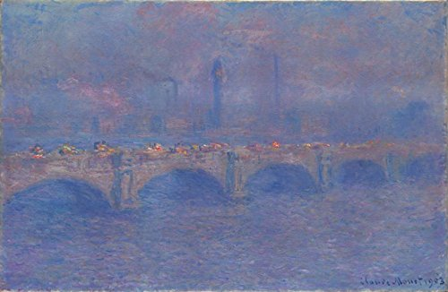 Claude Oscar Monet Waterloo Bridge, Sunlight Effect Art Institute of Chicago 30
