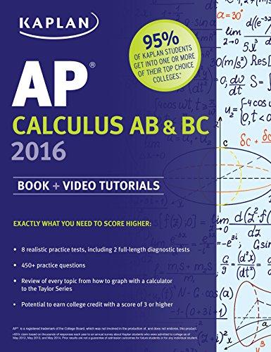 Kaplan AP Calculus AB & BC (2016) [Ruby, Sellers, Korf, Van Horn & Munn]