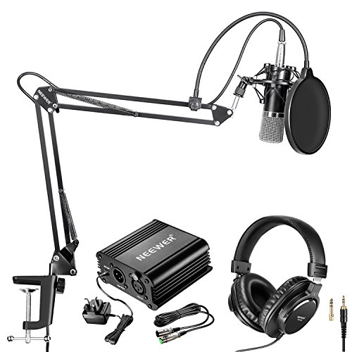Neewer NW-700 Pro Condenser Microphone(Black/Silver) and Monitor Headphones...