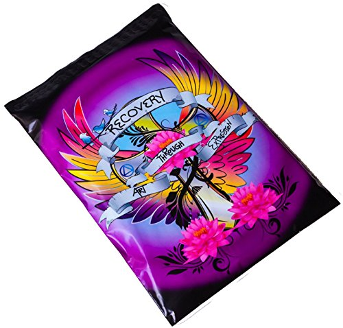 Designer Tattoo (Poly Mailers Tattoo Desigenr Mailers Shipping Envelopes Designer Boutique Packaging Bags in Support of Addiction Recovery Proceeds Donated! Black, Blue, Purple, Pink #SmileMail (10x13))