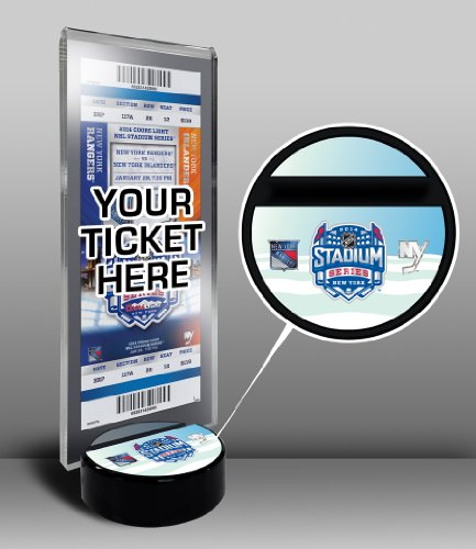 NHL New York Rangers 2014 Islanders vs. Rangers Stadium Series Ticket Display Stand, One Size, Multicolored Stadium Display