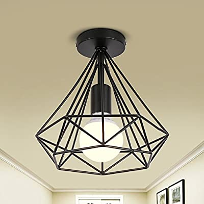 LightInTheBox Vintage Simple mini Ceiling Lamp Flush Mount lights Entry Hallway Game Room Kitchen light Fixture Chandeliers Black