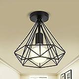 LightInTheBox Vintage Simple mini Ceiling Lamp Flush Mount lights Entry Hallway Game Room Kitchen light Fixture Chandeliers Black