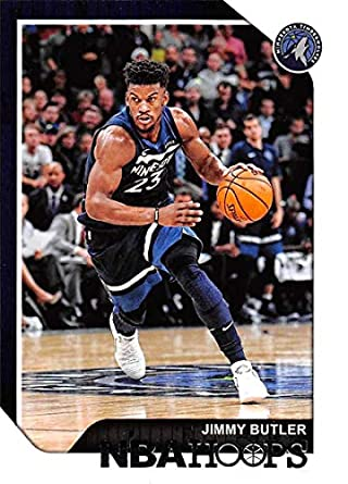 69169e97c58 2018-19 NBA Hoops Basketball  170 Jimmy Butler Minnesota Timberwolves  Official Trading Card made