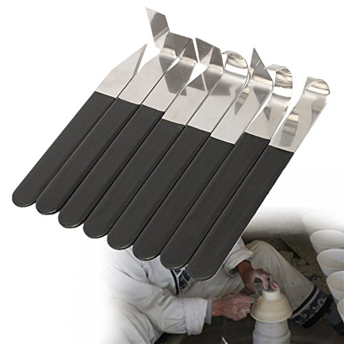 OlogyMart 8Pcs Stainless Steel Pottery Wax Clay Carvers Carving Sculpture Hand Tools