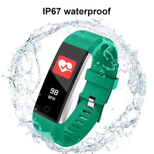 Bonice Fitness Tracker HR, Reloj de Actividad Bluetooth con Monitor de frecuencia Cardíaca, Contador de Pasos, rastreador de Sueño, Contador de Calorías, ...