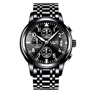 Men Business Watch Chronograph Waterproof Clock Mens Watches Brand Luxury Fashion Casual Sport Quartz Wristwatch