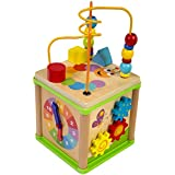 Activity Box Play Station Wooden Toy by Playdreams
