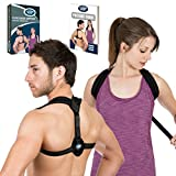 Posture Corrector for Women and Men | Best Fully Adjustable Upper Back Brace Trainer | Improves Slouching and Hunched Shoulders | for Maximum Support (Med/Large)