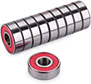ABEC-9 Wheel Bearings, Precision 608 RS ABEC 9 Bearings for Scooters,Longboards and Skateboards