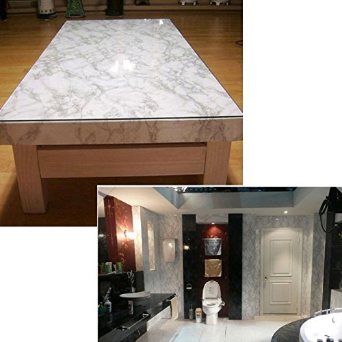 Grey granite look marble effect contact paper self for Pre adhesive wallpaper