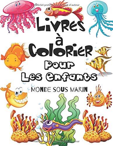 Amazon Livres A Colorier Pour Les Enfants Monde Sous Marin Livre De Coloriage Plein De Poissons Mignons Sol Lime Activity Books