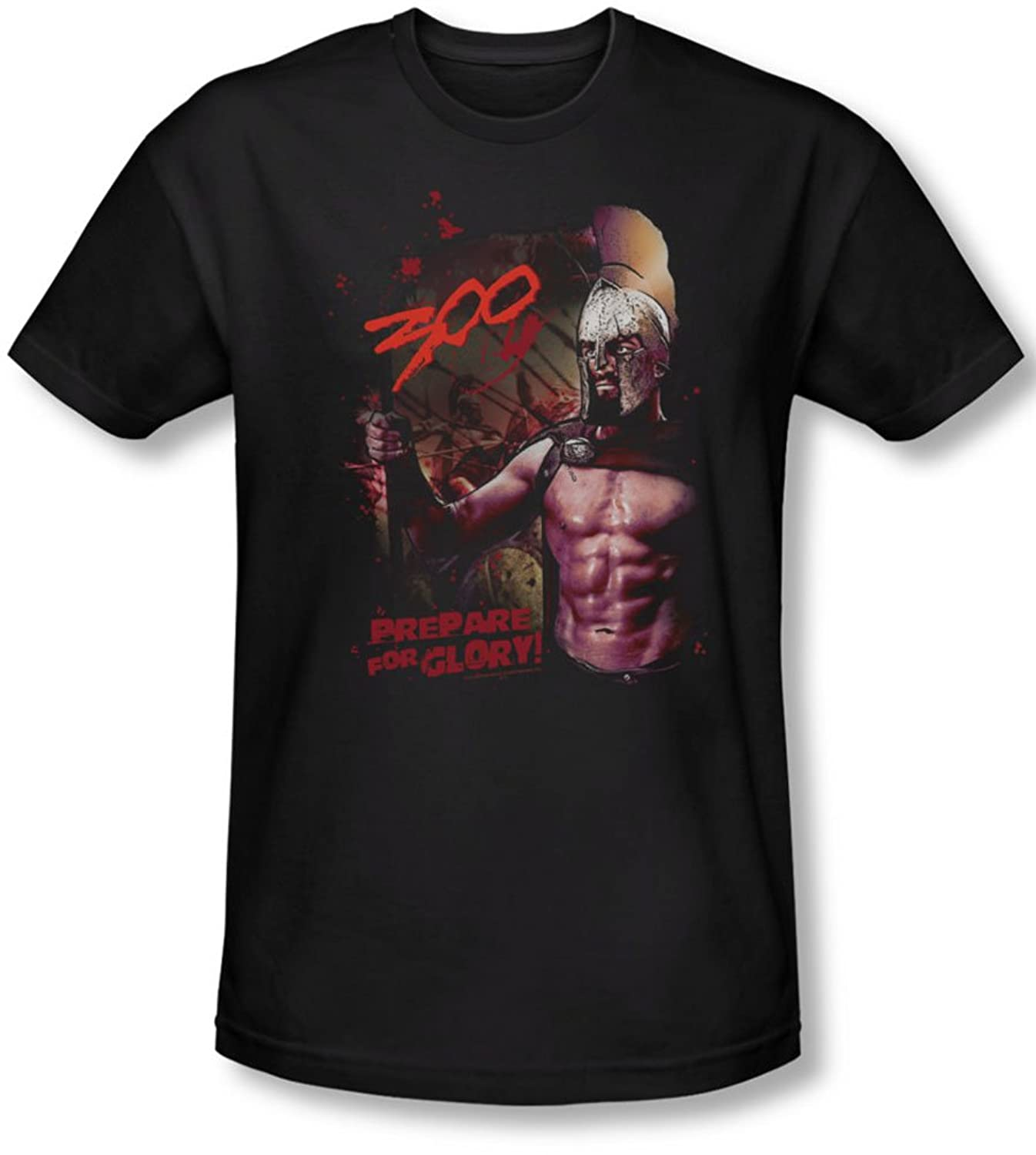 300 - Mens Prepare For Glory T-Shirt In Black