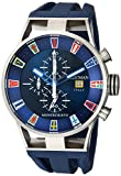 Locman Italy Men's 'Montecristo Yacht Club CH' Quartz Stainless Steel and Rubber Diving Watch, Color:Blue (Model: 051000BLFLAGGOB)