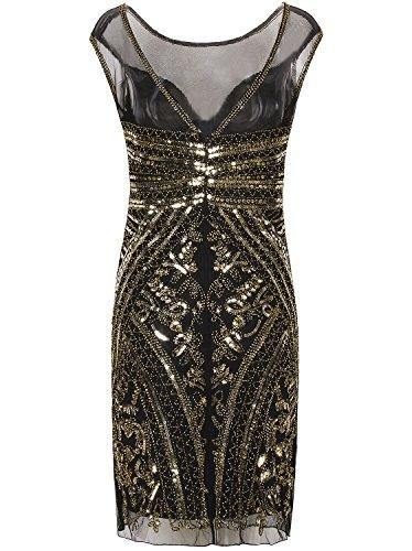 284a7d9f Vijiv 1920s Short Prom Dresses V Neck Inspired Sequins Cocktail Flapper  Dress