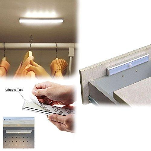 MENGS® 6 pieza L802 Movimiento Sensor LED Bombilla Blanco frío 15000 K 10 x 2835 SMD Luz nocturna con aluminio y ABS Material Zapata para armarios, ...
