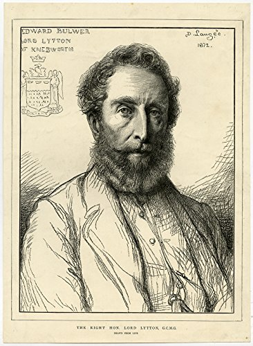 antique-print-edward-bulmer-lord-lytton-statesman-india-laugee-1872