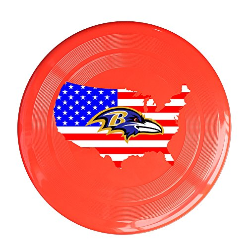 U9 Baltimore Flag Ravens Outdoor Game Frisbee Flyer Frisbee (Baltimore Ravens Halloween Flag)