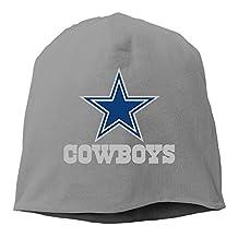 Men Women Dallas Cowboys Football Logo Beanie (6 Colors) Black