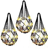 Mesh Sports Ball Bag - AZSTAR 3 Pcs Single Ball Carrier Net Bag Durable Mesh Storage Sports Ball Holder for Ba