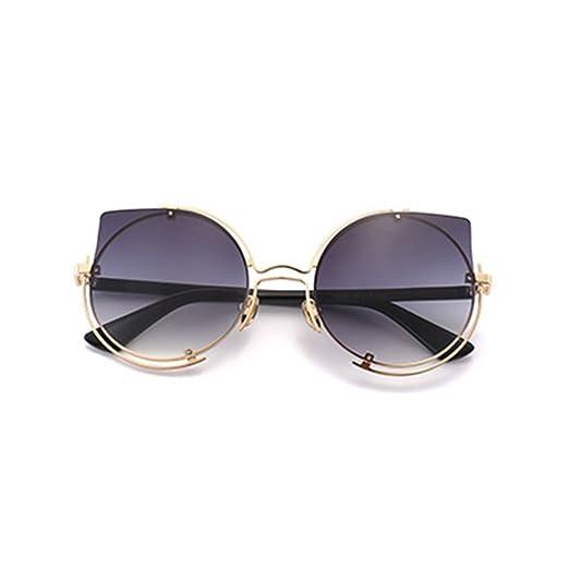 f7a51c7a378 Meyison Oversized Retro Round Cateye Flat Mirrored Lens Sunglasses for Women