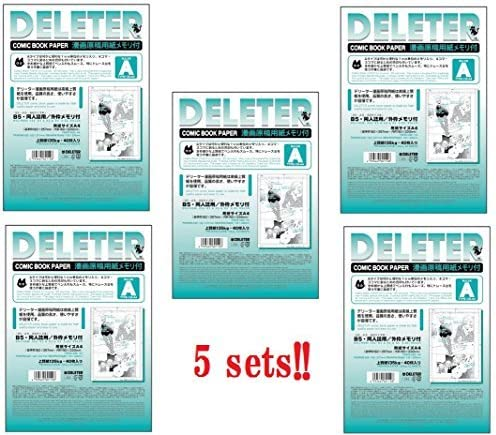Deleter Comic Book Paper Type A B4//135kg with Scale Japanese Import