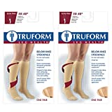 Truform Compression 30-40 mmHg Knee High Stockings Beige, Medium, 2 Count