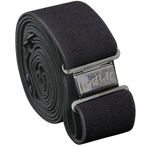 [해외]isabelt 여성 캐주얼 슈퍼 스트레치 블랙 벨트 + 블랙 마그네틱 걸쇠/isABelt Women`s Casual Super Stretchy Fabric Belt in Black + 1 Magnetic Clasp