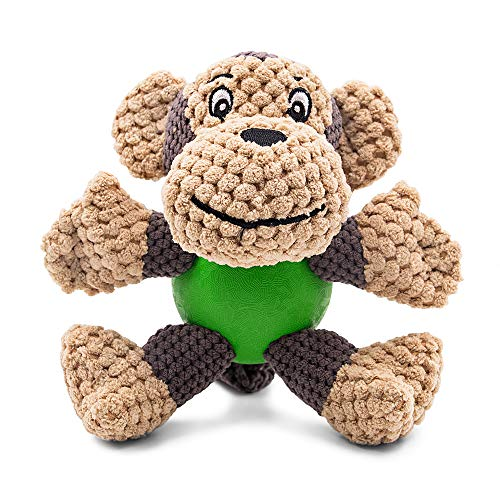Raffaelo Dog Toy, Plush Squeaking Dog Toys, Dog Plush Toy, Chew Toy with Squeaker, Teeth Cleaning for Puppy, Small and Medium Dogs, Not Suitable for Big Dogs (Plush Toys-Monkey(5.9-6.2