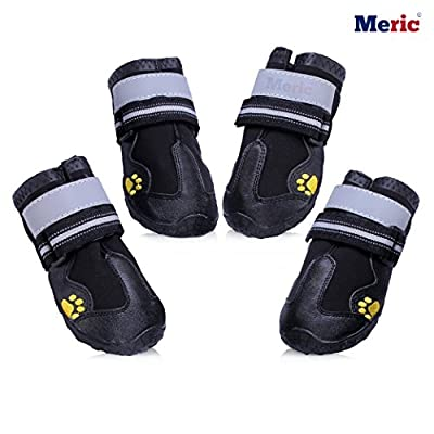 Dog Shoes - Comfortable Warm Paw Protectors - Wear and Bite-Resistant - Sturdy and Durable Sole, Water-Resistant boots - Perfect Anti Slip Booties for Medium to Large Dogs