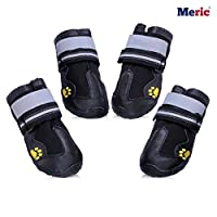MERIC Dog Shoes - Comfortable Warm Paw Protectors - Wear and Bite-Resistant - Sturdy and Durable Sole, Water-Resistant Boots - Perfect Anti Slip Booties