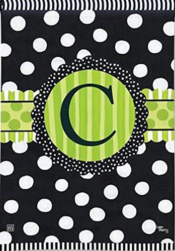 BreezeArt Letter C Monogram Frolic Garden Flag
