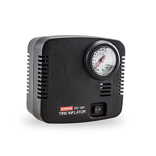 AUTO-VOX 300 PSI 12V DC Portable Air Compressor Pump Tire Inflator for Truck Car Pump Bicycle and (Psi Bicycle Tires)