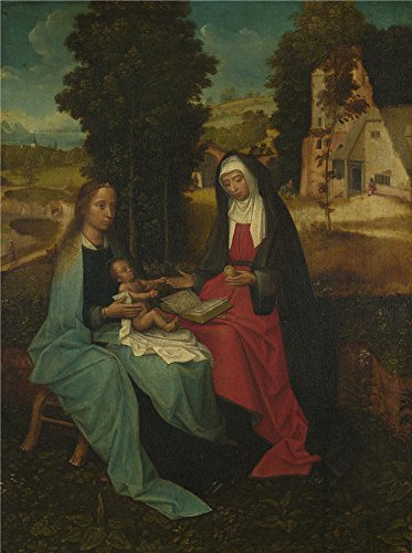 Perfect Effect Canvas ,the Vivid Art Decorative Prints On Canvas Of Oil Painting 'Netherlandish The Virgin And Child With Saint Anne ', 8 X 11 Inch / 20 X 27 Cm Is Best For Living Room Decoration And Home Gallery Art And Gifts