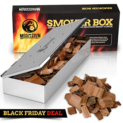 Grill Smoker Box for Wood Chips
