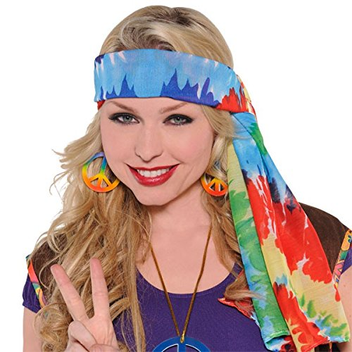 [Hippie Headscarf Costume] (60s Dress Up Costumes)