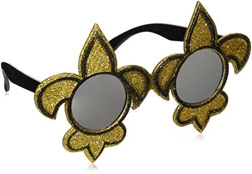 Glittered Fleur De Lis Fanci-Frames (black & gold) Party Accessory  (1 count) (1/Pkg)