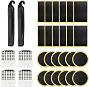 Bike Tire Patch Repair Kit 30 pcs, Tire Glueless Self-Adhesive Patches Kit for Repairing Bicycle or Motorcycle