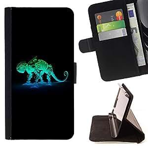 For Motorola Moto E ( 2nd Generation ) Case , Robot Mech Camaleón- la tarjeta de Crédito Slots PU Funda de cuero Monedero caso cubierta de piel