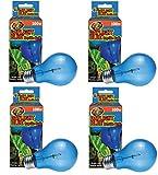 (4 Pack) Zoo Med Daylight Blue Reptile Bulbs - 100 Watt each