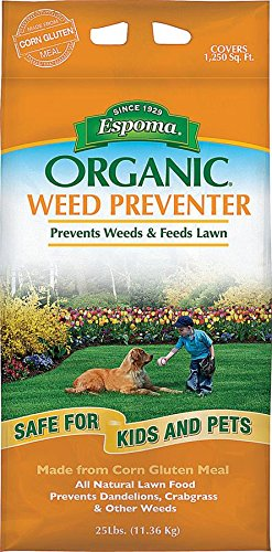 Espoma Organic Weed Preventer-25 lb. CGP25, 25 lb. (Best Organic Fertilizer For Weed)