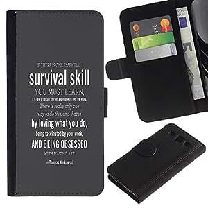 LECELL--Cuero de la tarjeta la carpeta del tirón Smartphone Slots Protección Holder For Samsung Galaxy S3 III I9300 -- SUPERVIVENCIA HABILIDAD --
