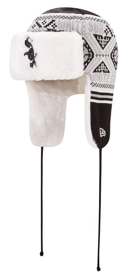 c603ab1f8b646 Amazon.com   New Era Chicago White Sox MLB Festive Trapper Fur Lined ...
