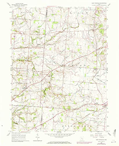 (YellowMaps East Ringgold OH topo map, 1:24000 Scale, 7.5 X 7.5 Minute, Historical, 1958, Updated 1972, 26.9 x 22 in - Paper)